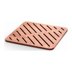 WS Bath Collections - 29.1 in. Square Shower Mat in Marine Plywood - Modern/contemporary design. Water Resistant. For Use Inside or Outside of Shower. Designer High End Quality. Warranty: One year. Made from solid okume wood. Made by Lineabeta of Italy. No assembly required. 29.1 in. L x 21.3 in. W x 0.8 in. H (10 lbs.). Spec SheetUnique and fine bath accessories and complements, that provide inspirational solutions for every decor.