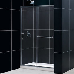 "DreamLine - DreamLine SHDR-0948720-01 Infinity-Z Shower Door - DreamLine Infinity-Z 44 to 48"" Frameless Sliding Shower Door, Clear 1/4"" Glass Door, Chrome Finish"