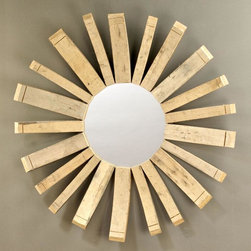 BoBo Intriguing Objects - BoBo Intriguing Objects Wine Barrel Mirror - Reclaimed French Oak wine barrel staves form the frame of this small round mirror.  Echoing the popular sun mirrors, BoBo Intriguing Objects makes this trend their own by re-inventing the wheel.  A wonderful conversation piece.Please note that items from BoBo Intriguing Objects are imported from Europe and the time it takes to receive these Intriguing Objects will vary. Should you have any questions regarding a timeline for these, or any of our products, please call our friendly staff at 1-800-440-5121.