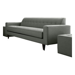 Younger - Michael Sofa - Spruce up your space with this sophisticated sofa. Well dressed and dapper, it features a solid wood frame, gorgeous gray upholstery and one long, lovely, cushy cushion to treat your seat.