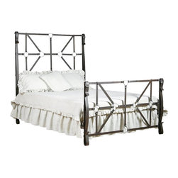 Corsican - custom 50 Shades Bed in Rustic Bronze Finish, King - Corsican has been in business over 40 years. Their entire focus is making wrought iron furniture. Many of their skilled craftsman are second generation.