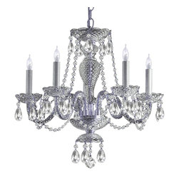 Crystorama - Crystorama Traditional Crystal 1 Tier Chandelier in Chrome - Shown in picture: Clear Hand Cut Crystal Chandelier; Traditional crystal chandeliers are classic - timeless - and elegant. Crystorama�s opulent glass arm chandeliers are nothing short of spectacular. This collection is offered in a variety of crystal grades to fit any budget. For a touch of class - order this