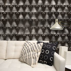 Tribal Triangles African Stencil - Tribal Triangles African Stencil from Royal Design Studio for walls, furniture, ceiling, floor, and fabric.