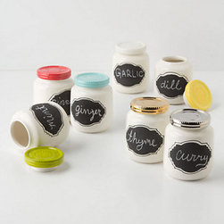 Chalkboard Spice Jar - How cute are these little spice jars? You can write your own label on the chalkboard area. I'd like a few for cinnamon and my other most-used spices.