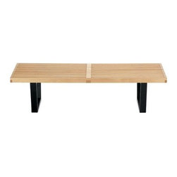 Herman Miller - Nelson Platform Bench | Design Within Reach - This classic slat bench, designed by George Nelson, is a true modern icon. It's useful as a coffee table, as an entryway or mudroom bench, or to serve as extra seating or at the foot of the bed.
