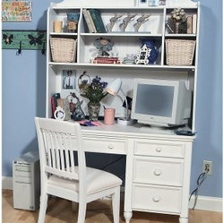Summer Breeze Computer Desk with Optional Hutch