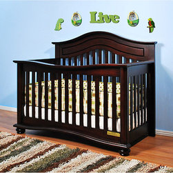 AFG Baby - AFG Baby Jordana Convertible Crib in Cherry - The Lia Crib from our Jordana Collection boasts a bold  assertive style that brings pronounced elegance into any nursery. Designed with a tasteful twist on the classic missionary style  the Lia Crib is timeless and sure to become the centerpiece of those joyous early years. Uncompromising in quality and strength  the Lia is built to last with a solid hardwood construction and nontoxic finish. It features an adjustable 3-level mattress support can be converted into a toddler bed or full-size bed. Guardrail and conversion rails sold separately.