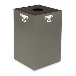 Witt Industries - Witt Industries Geo Cubes 24 Gallon Charcoal Recycling Bin Multicolor - 24GC01-C - Shop for Recycling Bins from Hayneedle.com! The compact and fire safe steel construction of the Witt Industries Geo Cube 24-Gallon Charcoal Recycling Bin makes recycling in the workplace easy. Designed to take up very little space this recycling bin will accommodate paper plastics glass or metals. Just pick the top that works with whatever you have in mind. Each top is clearly marked by decals that will keep other items from being thrown in and getting mixed up. This recycling bin holds up to 24 gallons and measures 15L x 15W x 24H inches.About Witt IndustriesWith its rich and established history in the steel waste receptacle manufacturing industry that dates back to 1887 Witt Industries has been in the forefront with its innovation quality and service. The company's founder George Witt invented and patented the first corrugated galvanized ash can and lid back in 1889 and the company has never looked back. Today Witt Industries is part of the Armor Metal Group and is a woman-owned business.