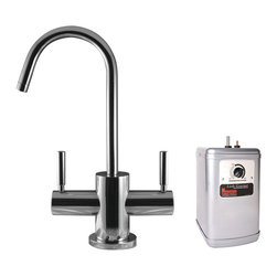 Mountain Plumbing - Mountain Plumbing The Little Gourmet Instant Hot and Cold Water Dispenser Kit - Mountain Plumbing 1401DIYNLCPB The Little Gourmet Instant Hot and Cold Water Dispenser Kit with Heating Tank, Polished Chrome