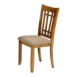 Liberty Furniture - Liberty Furniture Santa Rosa Casual Side Chair in Oak (Set of 2) - Take time to sit back and repose in this stylish chair as it provides comfort and looks without sacrificing function. A versatile build and attractive aesthetics come together in accord to create a must-have chair. This chair utility and fashion make it an adaptable addition. What's included: Side Chair (can only be purchased in sets of 2).