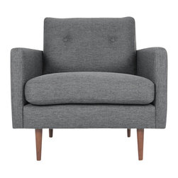 Bryght - Gray Mid-Century Modern Armchair | Noah Mid-Century Modern Furniture - A fresh take on style with comfort. Give your home a trendy update with the mid century modern inspired Noah armchair
