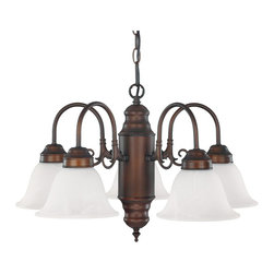 Capital Lighting - Capital Lighting 3255 Series Transitional Chandelier X-811-BB5523 - Curving cascades of form and comfort, form the basis of the design for this contemporary transitional chandelier. The finish is highly durable and made to please so you can always enjoy the friendly glow. The fluted glass shades offer a rich texture and a clean bright shine for your bathroom, hacienda, lobby, or dining room. Share the magnificence with family and friends!