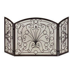 Imax - iMax Fire Screen X-12501 - Simple elegance blends with functionality in this beautiful wrought iron fireplace screen.