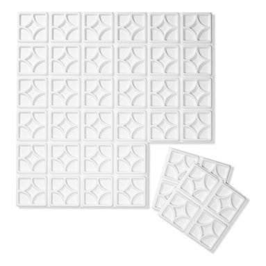 Inhabit - Inhabit Luna Wall Flats Set of 10 - Forgo drywall and folding screens and install these lightweight dimensional wall tiles, creating sculptural walls anywhere you want them in your home. This wall option is both chic and functional, and you'll love the three dimensional geometric pattern. Each panel is molded from bagasse, a renewable resource, making this an easy, ecofriendly choice for your home.