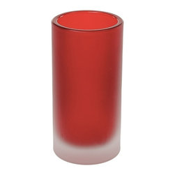 Gedy - Free Standing Toothbrush Holder in Glass, Red - Need a bathroom tumbler? This one is a free standing contemporary & modern tumbler/toothbrush holder that will fit perfectly into your contemporary personal bath.