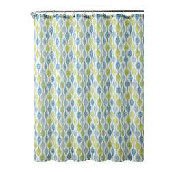 "Pisces Embossed Microfiber Shower Curtain - Pisces Embossed Microfiber Shower Curtain- 72""x 72"""