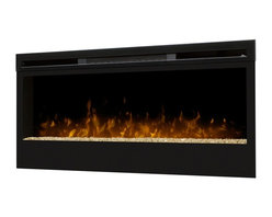 """Dimplex - Dimplex BLF50 50"""" Wall-Mount Electric Firebox Landscape - It's everything you would want from a real, burning fire -- light, ambiance, and a dazzling focal piece within virtually any indoor space. One of a series of innovative and breathtaking wall-mount fireboxes, the Synergy fireplace features a large 50-inch width viewing area and utilizes Dimplex's patented LED technology to produce a remarkably realistic illusion of a true fire. The Synergy firebox is safe to use and economically and environmentally efficient, producing no harmful particulates or emissions into the air and running perfectly on minimal energy, costing you just pennies a day. Equipped with a three-stage remote for easy control, you may choose to enjoy the ambiance of flames with or without heat, for year-round comfort and enjoyment."""