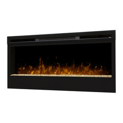 "Dimplex - Dimplex BLF50 50"" Wall-Mount Electric Firebox Landscape - It's everything you would want from a real, burning fire -- light, ambiance, and a dazzling focal piece within virtually any indoor space. One of a series of innovative and breathtaking wall-mount fireboxes, the Synergy fireplace features a large 50-inch width viewing area and utilizes Dimplex's patented LED technology to produce a remarkably realistic illusion of a true fire. The Synergy firebox is safe to use and economically and environmentally efficient, producing no harmful particulates or emissions into the air and running perfectly on minimal energy, costing you just pennies a day. Equipped with a three-stage remote for easy control, you may choose to enjoy the ambiance of flames with or without heat, for year-round comfort and enjoyment."