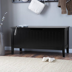 Belham Living - Belham Living Richland Storage Bench - Black - 9701B-081 - Shop for Benches from Hayneedle.com! Black never goes out of style neither will the Richland Storage Bench - Black. In a hue that looks great anywhere this black storage bench complete with lift top and safety hinges features a spacious inner stoage compartment. Beadboard paneling brings its look home.About Belham LivingBelham Living builds catalog-quality furniture in traditional styles at a price that actually makes sense. By listening to our customers and working closely with great manufacturers we build beautiful pieces worthy of your home. Rich wood finishes attention to detail and stylish lines that tie everything together are some of the hallmarks of a Belham Living piece. From the living room or bedroom through the kitchen and out onto the deck there's something from an incredible Belham collection perfect for your style.