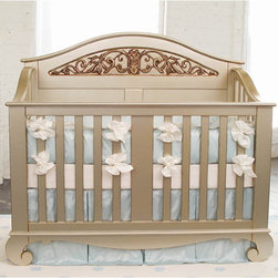 Chelsea Lifetime Crib in Antique Silver - Chelsea Lifetime Crib in Antique Silver by Bratt Decor