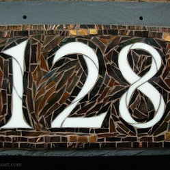 Mosaic House Numbers on Slate