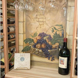 Designer Series Wine Rack - Table Top below Glass Rack - The wooden Tabletop is designed to be placed above the Half Height wine rack providing a convenient area to open your bottles of wine. Product requires assembly. Please note: molding packages are available separately.