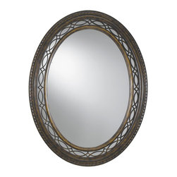 Murray Feiss - Murray Feiss Drawing Room Decorative Mirror in Walnut - Shown in picture: Drawing Room Mirror in Walnut finish