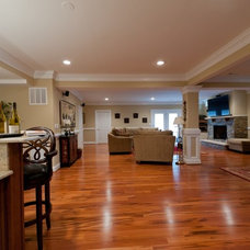 Traditional Basement by Michael Nash Design, Build & Homes