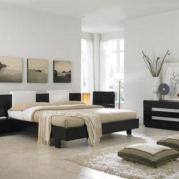 Elegant Leather Luxury Elite Furniture Set - Exclusive modern design dark brown color wooden bedroom set. The platform bedroom set features exclusive modern design, warm wenge color finish, durable wood construction and premium quality.