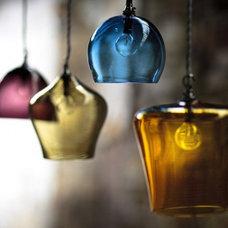 Modern Lighting : Hand-Blown Glass Pendants by Curiousa & Curiousa | Interior De