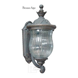 Craftmade - Craftmade Ultra Outdoor Wall Sconce X-56-036Z - Showcase antique elegance and Old World ease with this traditional wall sconce. The cast aluminum frame and bronze age finish provides exceptional durability and premium quality, so your porch, patio, or garage looks great. The seeded contoured melon glass provides mystery and intrigue for your friends and neighbors.