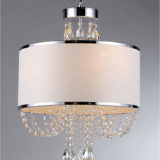 Chandeliers 'Hera' Shaded Crystal-detailed 4-light Chandelier