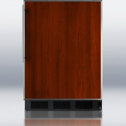 Summit - AL752BBIFR ADA Compliant Built-in Undercounter Refrigerator with Automatic Defro - The AL752BBIFR is conveniently sized under 24 inches wide to fit into tight spaces It can be built into cabinetry or used freestanding with a reversible door allowing flexible placement The exterior is black with an elegant two-piece stainless steel ...
