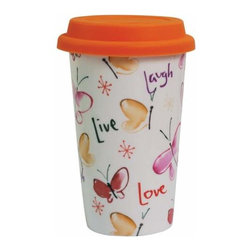"""WL - """"Live, Laugh, Love"""" Travel Coffee or Tea To-Go Decorated 12 oz Mug - This gorgeous """"Live, Laugh, Love"""" Travel Coffee or Tea To-Go Decorated 12 oz Mug has the finest details and highest quality you will find anywhere! """"Live, Laugh, Love"""" Travel Coffee or Tea To-Go Decorated 12 oz Mug is truly remarkable."""
