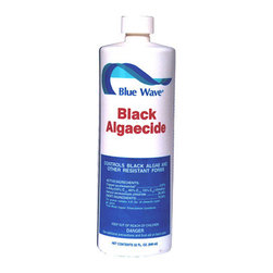 Blue Wave - Blue Wave Black Zapper Algaecide 1 Qt - 4 Pack - Black zapper; black algae killer! stop black algae from attacking your pool. This powerful algaecide has been formulated specifically to kill and prevent tough black algaecide strains. Super concentrated formula is non-clouding and low-foaming. Maintenance dosage: 16 oz. Per 10,000 gallons.