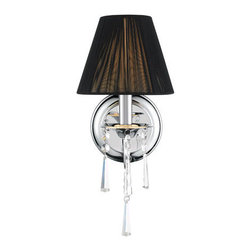 Golden Lighting - Golden Lighting 8201-1W-BLK Tetiva 1 Light Wall Sconce, Chrome - Tetiva Sconce in the Chrome finish