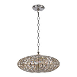 Crystorama - Crystorama 345-SA Solstice Chandelier - Lighting is often described as jewelry for the home. Crystorama makes good on the metaphor with its newest collection of chandeliers. We have taken the warm glow in the golden square crystal shade and placed it inside the antique silver metal work, creating a sophisticated illuminating decor.