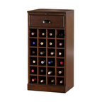American Heritage - Natalia Modular Wine Bar Center Unit - Holds up to 24 bottles of wine. Pull-Out Work Area. No Assembly Required. 1 Year Warranty. Finish Color: Navajo. Hardware Finish: Charcoal Bronze. Fully Assembled. 18 in. W x 13.5 in. D x 36 in. HThe perfect accent piece that also provides a great deal of functionality, the Natalia Right Modular Unit has storage shelving, a pull-out work area, and an easy-glide drawer to make this the perfect piece for any room.