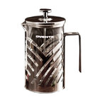 Ovente - Ovente Stainless Steel 27-ounce French Press - A simple, attractive and very functional design are combined in this Ovente French Press. The durable and heat-resistant press just needs coffee stirred in and then pressed with the plunber to provide a fine brew of coffee in about four minutes.