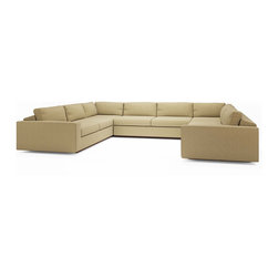 "True Modern - Jackson ""U"" Shaped Sectional - U need a sofa that suits your social life and now U have it. This U-shaped sectional is designed to keep conversation flowing — and don't let the modern look fool you.  With its oversized seat, arms and pillows — plus cushions engineered to keep the stuffing in place — it's as much about comfort as sleek style."