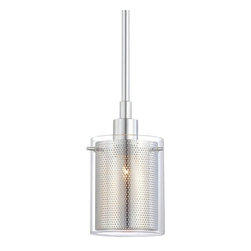 "Kovacs - Kovacs P960 1 Light 6"" Height Mini Pendant from the Grid II Collection - Single Light 6"" Height Mini Pendant from the Grid II CollectionFeatures:"