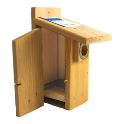 Songbird Essentials - Western Bluebird Ultimate Bluebird House - Western Bluebird Ultimate Bluebird House. Entrance hole measures 1 9/16 inch.