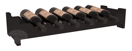 Wine Racks America - 6 Bottle Mini Scalloped Wine Rack in Pine, Black - Decorative 6 bottle rack with pressure-fit joints for stacking multiple units. This rack requires no hardware for assembly and is ready to use as soon as it arrives. Makes the perfect gift for any occasion. Stores wine on any flat surface.