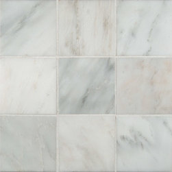 "Marbleville - MSI Arabescato Carrara 4"" x 4"" Tumbled Marble Floor and Wall Tile - Premium Grade Arabescato Carrara 4"" x 4"" Tumbled Mesh-Mounted Marble Mosaic is a splendid Tile to add to your decor. Its aesthetically pleasing look can add great value to the any ambience. This Mosaic Tile is constructed from durable, selected natural stone Marble material. The tile is manufactured to a high standard, each tile is hand selected to ensure quality. It is perfect for any interior/exterior projects such as kitchen backsplash, bathroom flooring, shower surround, countertop, dining room, entryway, corridor, balcony, spa, pool, fountain, etc."