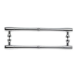 Top Knobs - Nouveau Bamboo Back to Back Door Pull - Polished Chrome (TKM721-18 pair) - Nouveau Bamboo Back to Back Door Pull - Polished Chrome