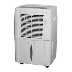 Heat Controller - 30 Pint Dehumidifier EStar 115 - 30 Pint Dehumidifier E-Star 115v. Comfort-Aire's BHD-301-G portable dehumidifier are designed to efficiently and quietly remove moisture from the air and to look good doing it (30 pints per day). Compact sleek cabinets are stone white in color and roll easily from room to room on durable casters. All Comfort-Aire portable dehumidifiers come charged with the environmentally-friendly refrigerant R-410A with low temperature operation to 41 .