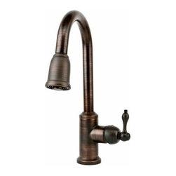Premier Copper Products - TruFaucet Pullout Spray Oil Rubbed Bronze Faucet - K-PD01ORB