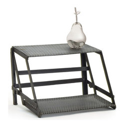 Go Home - Go Home Indu Riser - This Indu Riser is made of steel and has vintage industrial finish. It comes with two stair treads which are attached by elegant and sleek rods. Its extremely durable and very functional.