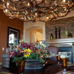Antler Chandelier - Waldo Canon Fire Rebuild Parade of Homes - photo & design by Tweeds Fine Furnishings