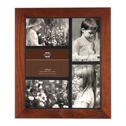 """Origin Crafts - Adler walnut 5 picture collage frame (4x6) - Adler Walnut 5 Picture Collage Frame (4x6) Natural ash wood, heavily grained finish, black inner border accent, wall hangers. 5-opening (holds 4x6"""" photos) By Prinz - Prinz is a leading supplier of picture frames. At Prinz they are committed to offering unsurpassed design, quality, and value. Ships within five business days."""